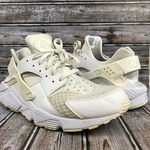 Nike Huarache 318429-111 Triple White Shoes